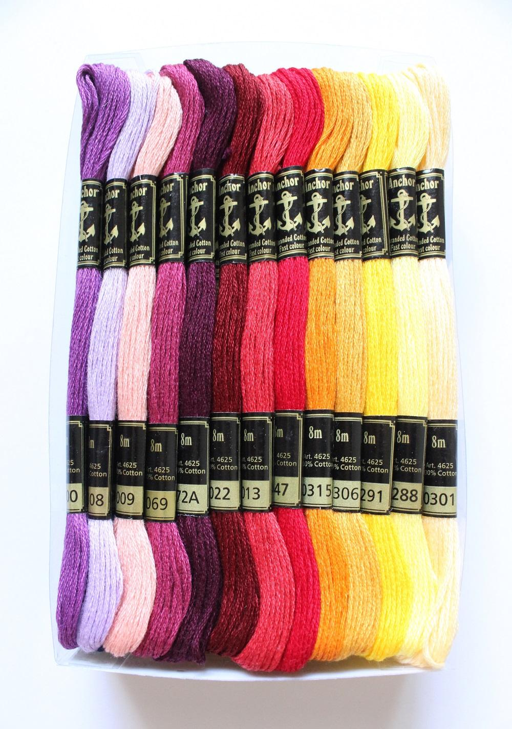 Anchor Stranded Cotton 8m Colours 341-367 100/% Cotton Embroidery Thread Skeins